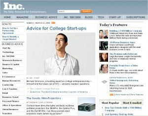 Inc.com Homepage Feature